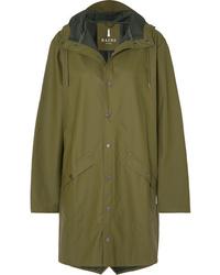 Rains Hooded Matte Pu Raincoat