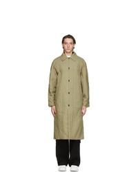 Kenzo Khaki And Beige Corduroy Coat