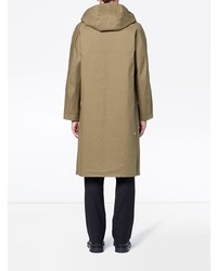 MACKINTOSH Khaki Bonded Cotton Hooded Riding Coat Gr 102d