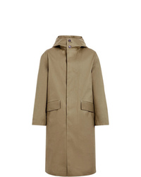 MACKINTOSH Khaki Bonded Cotton Hooded Riding Coat Gr 102d