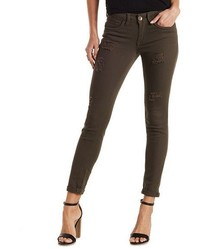 Charlotte Russe Dollhouse Destroyed Colored Jeans