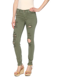 Sneak Peek Olive Rip Out Jeans