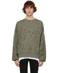 Amiri Khaki Oversized Shotgun Sweatshirt