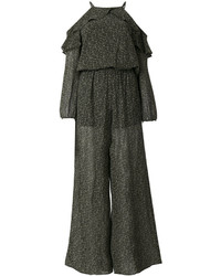 MICHAEL Michael Kors Michl Michl Kors Open Shoulder Ruffle Jumpsuit