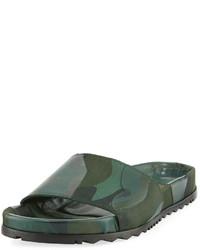 Valentino Camo Sport Slide Sandal Green