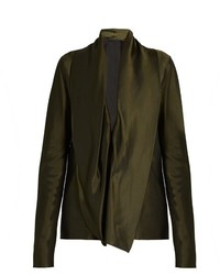 Haider Ackermann Cornwallis Draped Satin Blouse