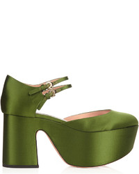 Satin platform pumps medium 959807