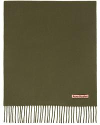 Acne Studios Khaki Wool Narrow Scarf