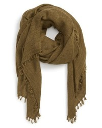 Treasure & Bond Solid Fringed Scarf