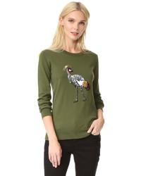 Markus Lupfer Sequin Bird Sweater
