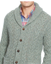 ade7f6edb9ef50 ... Polo Ralph Lauren Big And Tall Cable Knit Wool Cashmere Cardigan Sweater  ...