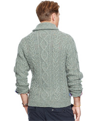 Polo Ralph Lauren Big And Tall Cable Knit Wool Cashmere Cardigan ...