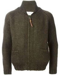Golden goose deluxe brand shawl collar zipped cardigan medium 122316