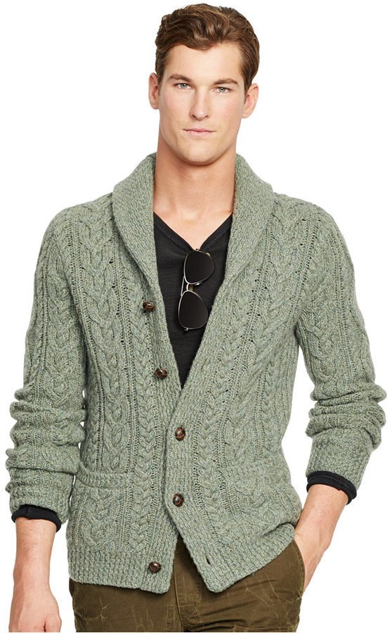 Polo Ralph Lauren Wool Cable Knit Cardigan | Where to buy & how to ...