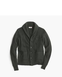 Olive Shawl-Neck Sweater