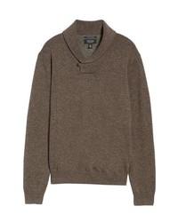 Nordstrom Men's Shop Cotton Cashmere Shawl Collar Sweater