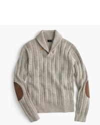 J.Crew Cotton Mariner Shawl Collar Sweater