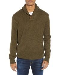 J.Crew Rugged Merino Wool Blend Shawl Collar Pullover Sweater