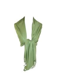 Ctm classic pashmina shawl wraps light green one size medium 150516