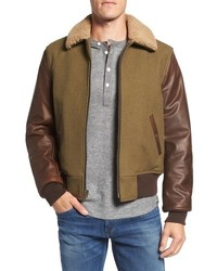 Olive Shearling Jacket