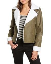 Vigoss Faux Shearling Moto Jacket