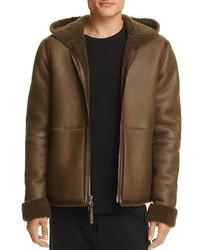 Hooded shearling jacket medium 5396320