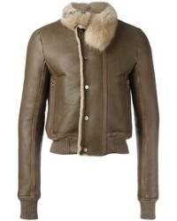 Rick Owens Hun Shearling Jacket