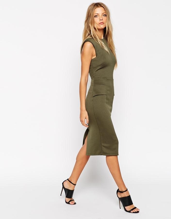 Outfits vestido verde olivo