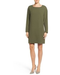 Bobeau Long Sleeve Shift Dress
