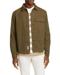 Closed Button Up Army Shirt