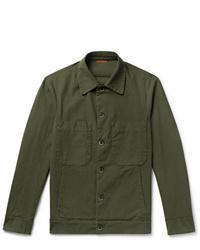 Barena Cotton Blend Ripstop Overshirt