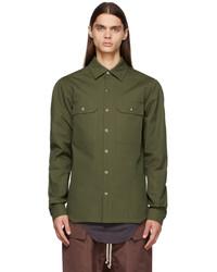 Rick Owens Green Outershirt Jacket
