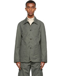 Deveaux New York Khaki Canvas Jackson Jacket