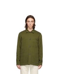 Drakes Khaki Chore Jacket