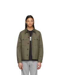 Ps By Paul Smith Khaki Military Shirt Jacket