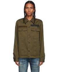 Diesel Khaki Woven Cotton Jacket