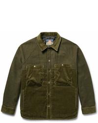 Blackmeans Mlange Felt And Cotton Corduroy Jacket