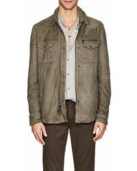John Varvatos Star Usa Suede Shirt Jacket