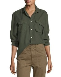 Vince Long Sleeve Button Front Utility Shirt
