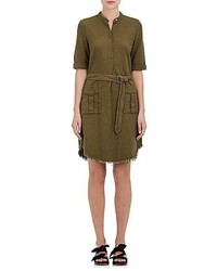 Raquel Allegra Cotton Henley Shirtdress