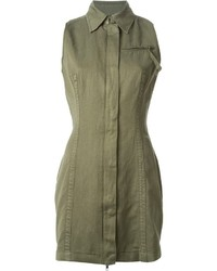 Diesel Military Style Shirt Dress