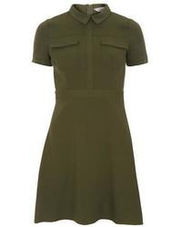 Dorothy Perkins Petite Khaki Shirt Dress