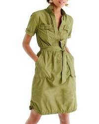 Ruffle hem utility shirtdress medium 5170250
