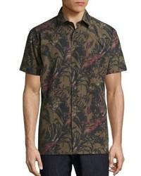 Salvatore Ferragamo Foliage Short Sleeve Shirt