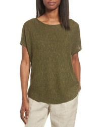 Eileen Fisher Organic Linen Cotton Knit Top