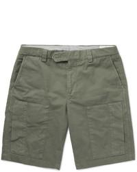 Brunello Cucinelli Cotton Blend Twill Cargo Shorts