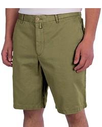 Thomas Dean Cotton Shorts Flat Front
