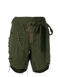 Saint Laurent Drawstring Tie Detail Shorts