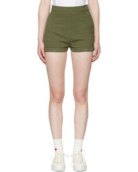 Visvim Green Damaged Priscilla Chino Shorts
