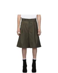 Random Identities Green Oversize Tailored Shorts